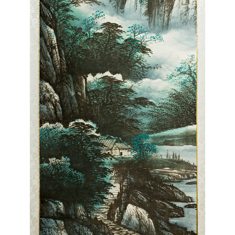 Hand-Painted Chinese Scroll