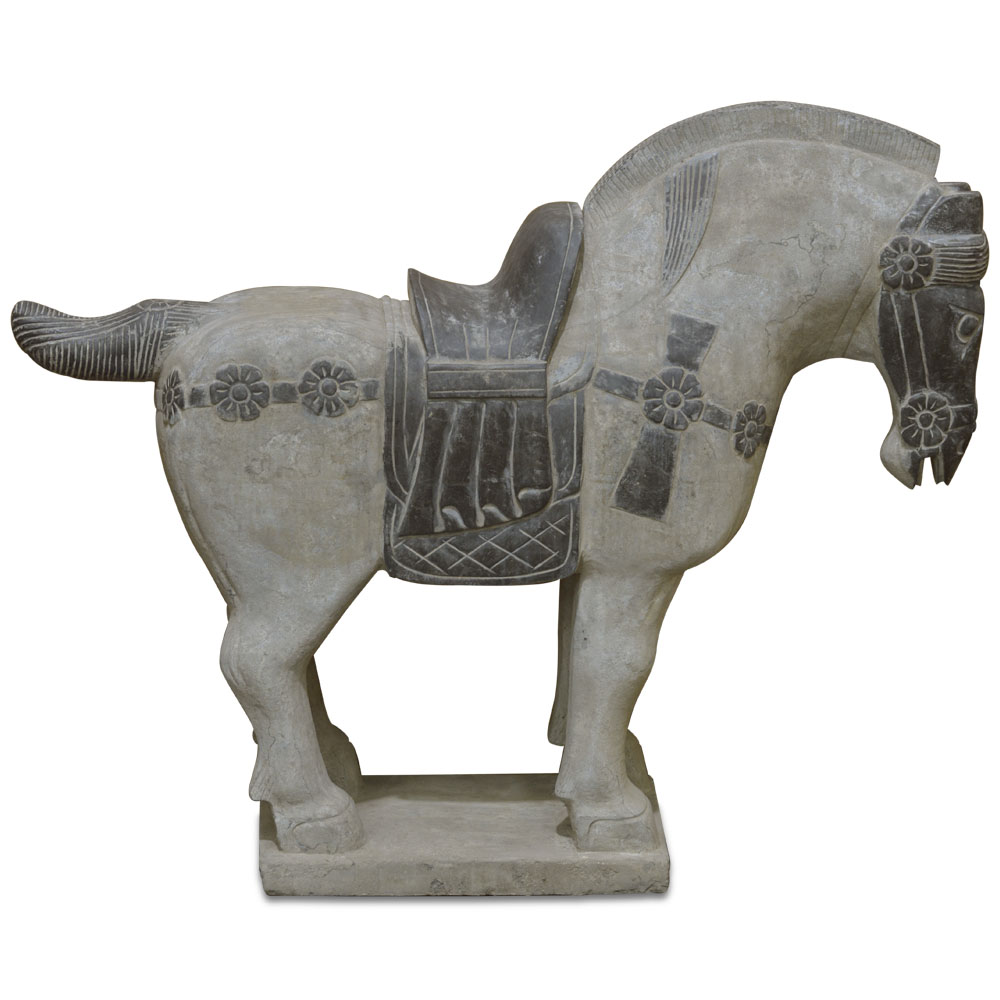 Imperial Palace Stone Horse Asian Sculpture