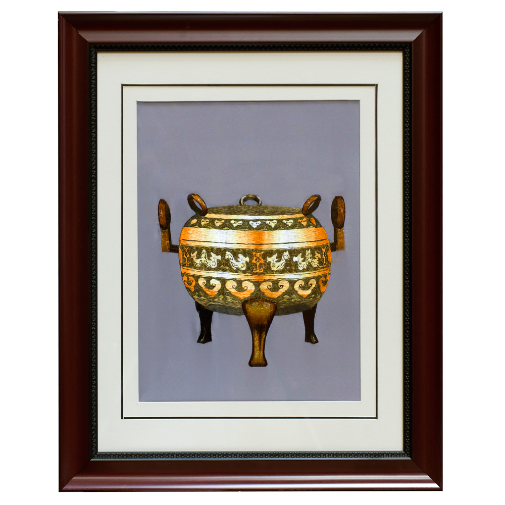 Bronze Ding Silk Embroidery Frame