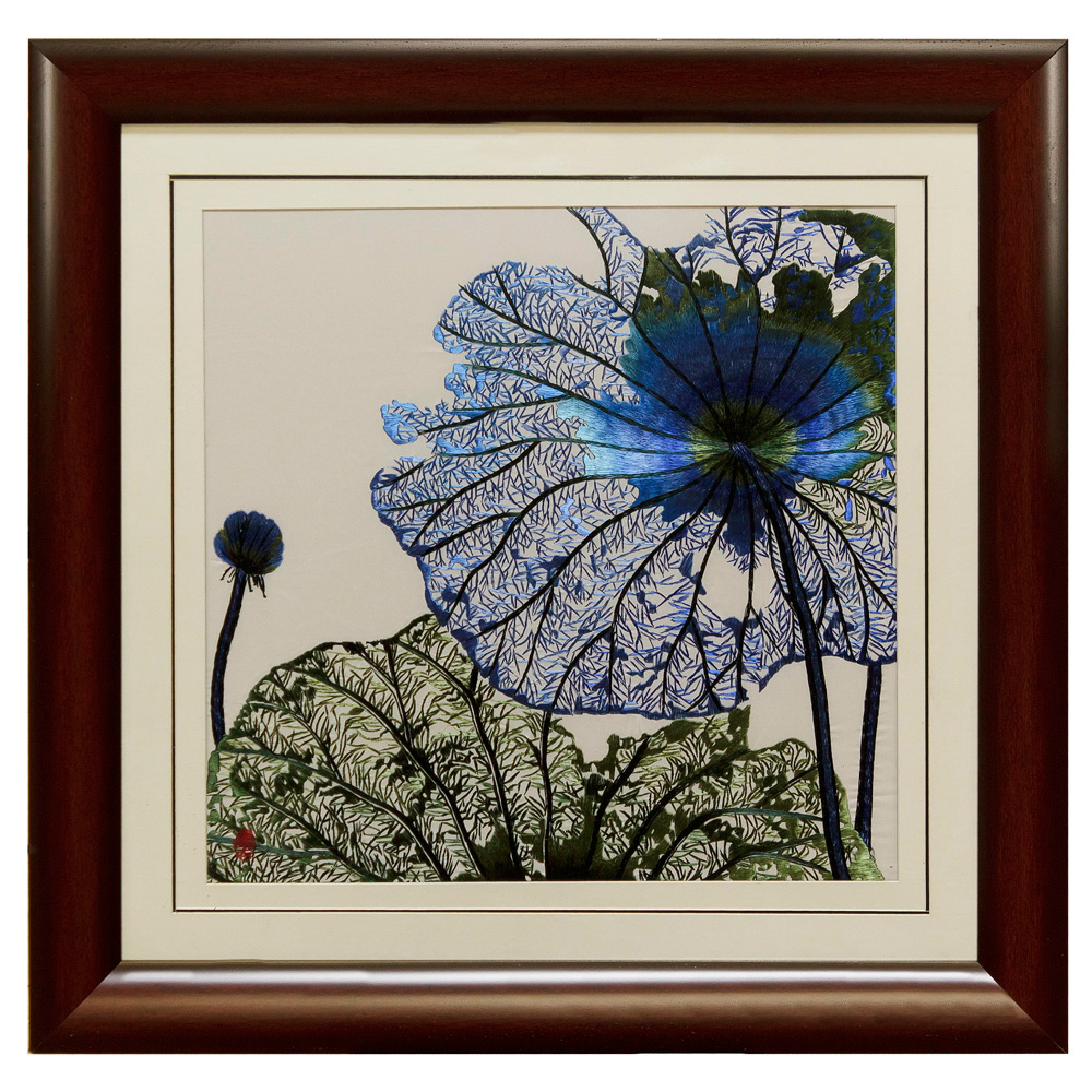 Lotus Flower Silk Embroidery Frame