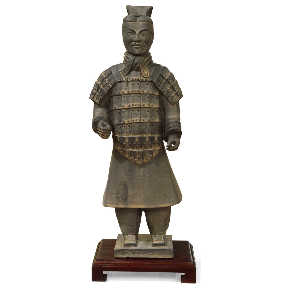 16 Inch Terracotta Civil General Warrior