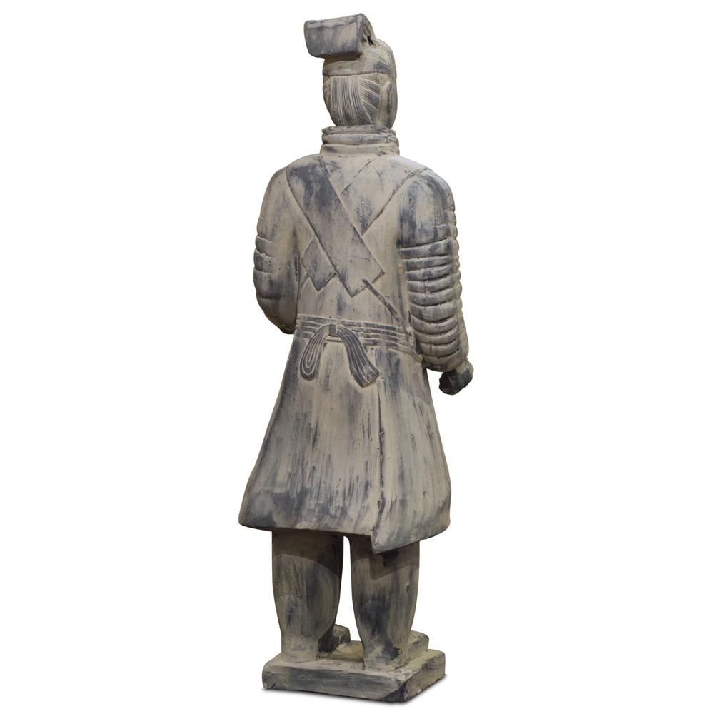 46 Inch Terracotta Standing Chariot Warrior