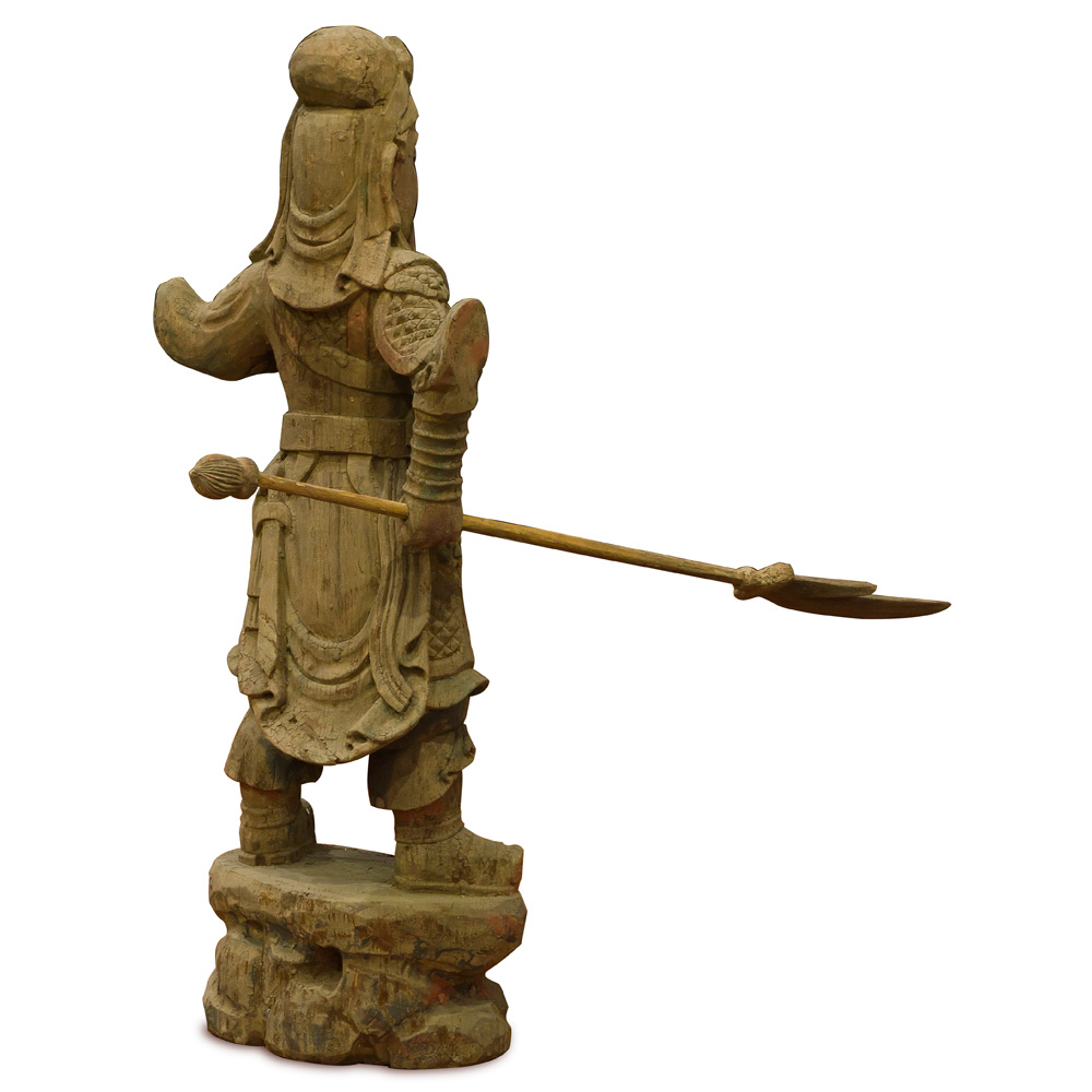 Vintage Wooden Guan Yu
