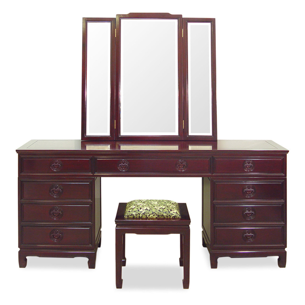 Rosewood Longevity Design Dresser Set