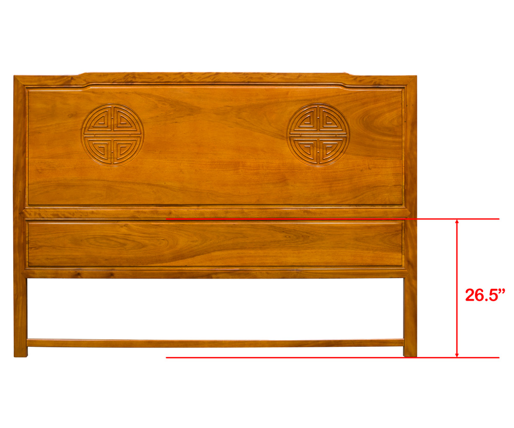 Natural Finish Rosewood Longevity King Size Headboard