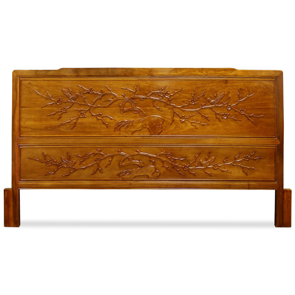 Rosewood Cal. King Size Cherry Blossom Motif Headboard