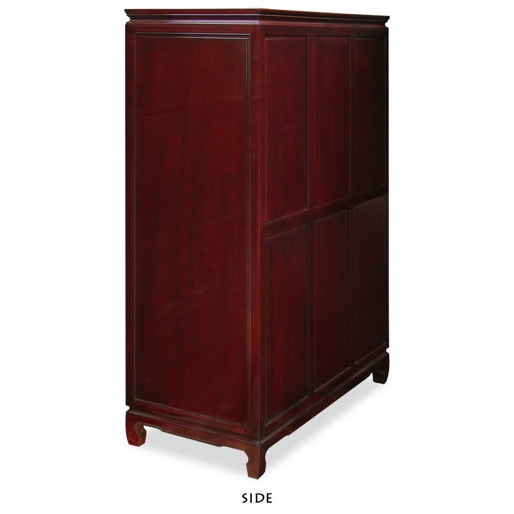 Dark Cherry Rosewood Longevity High Chest of Drawers