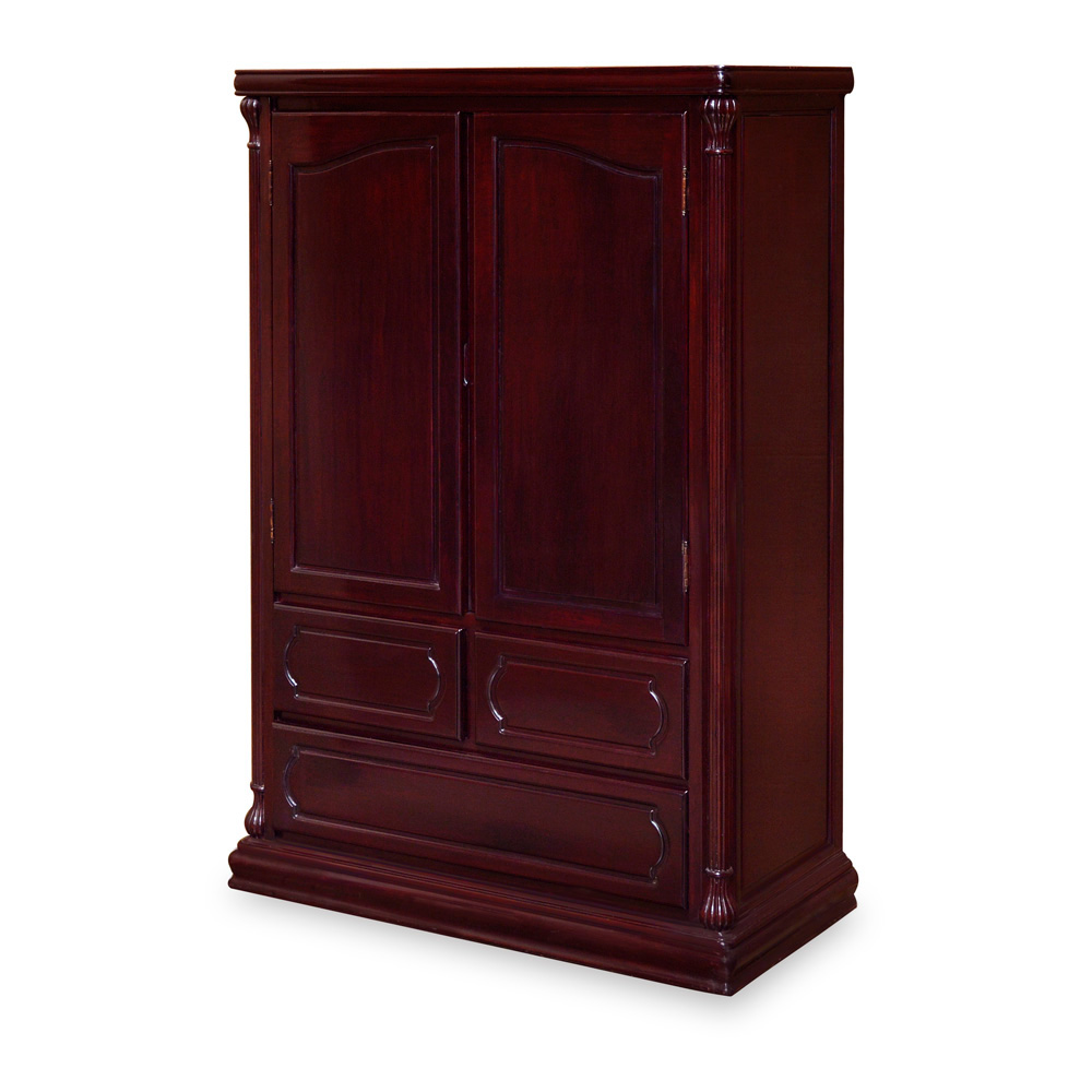 Dark Cherry Rosewood French Armoire