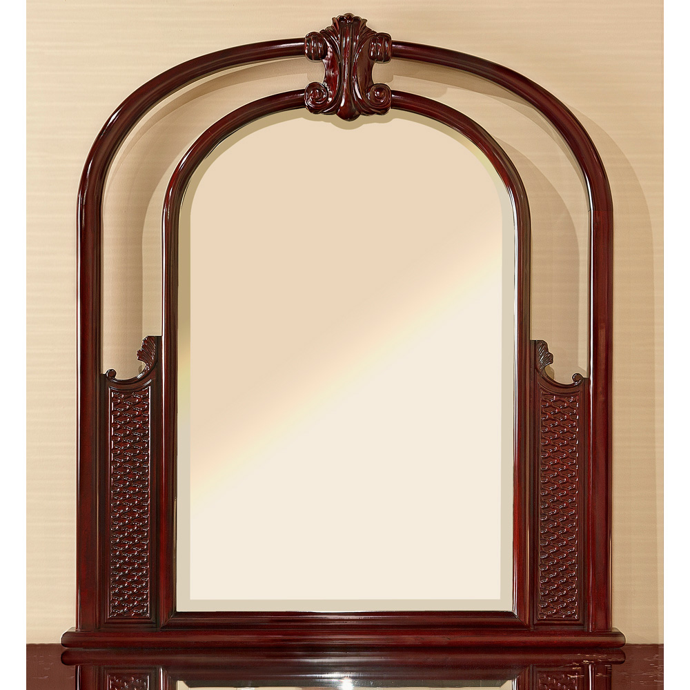 Dark Cherry Rosewood French Design Mirror