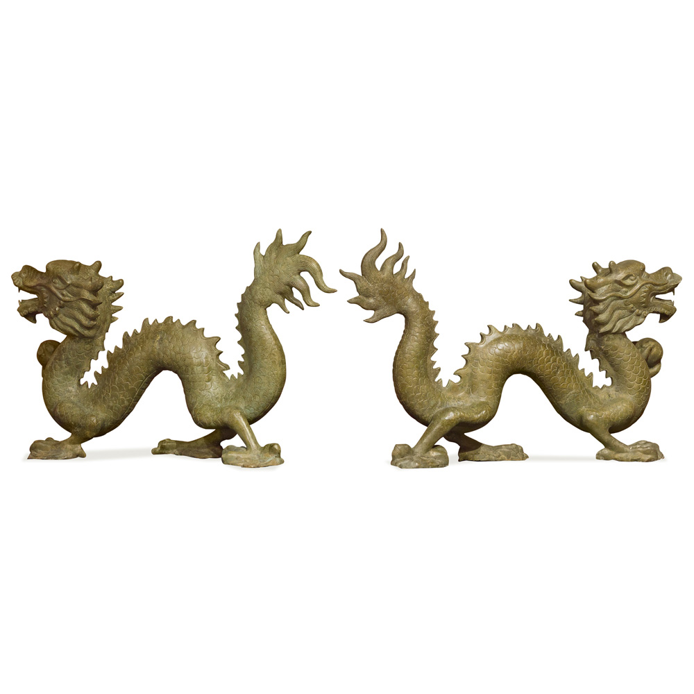 Bronze Flying Dragons
