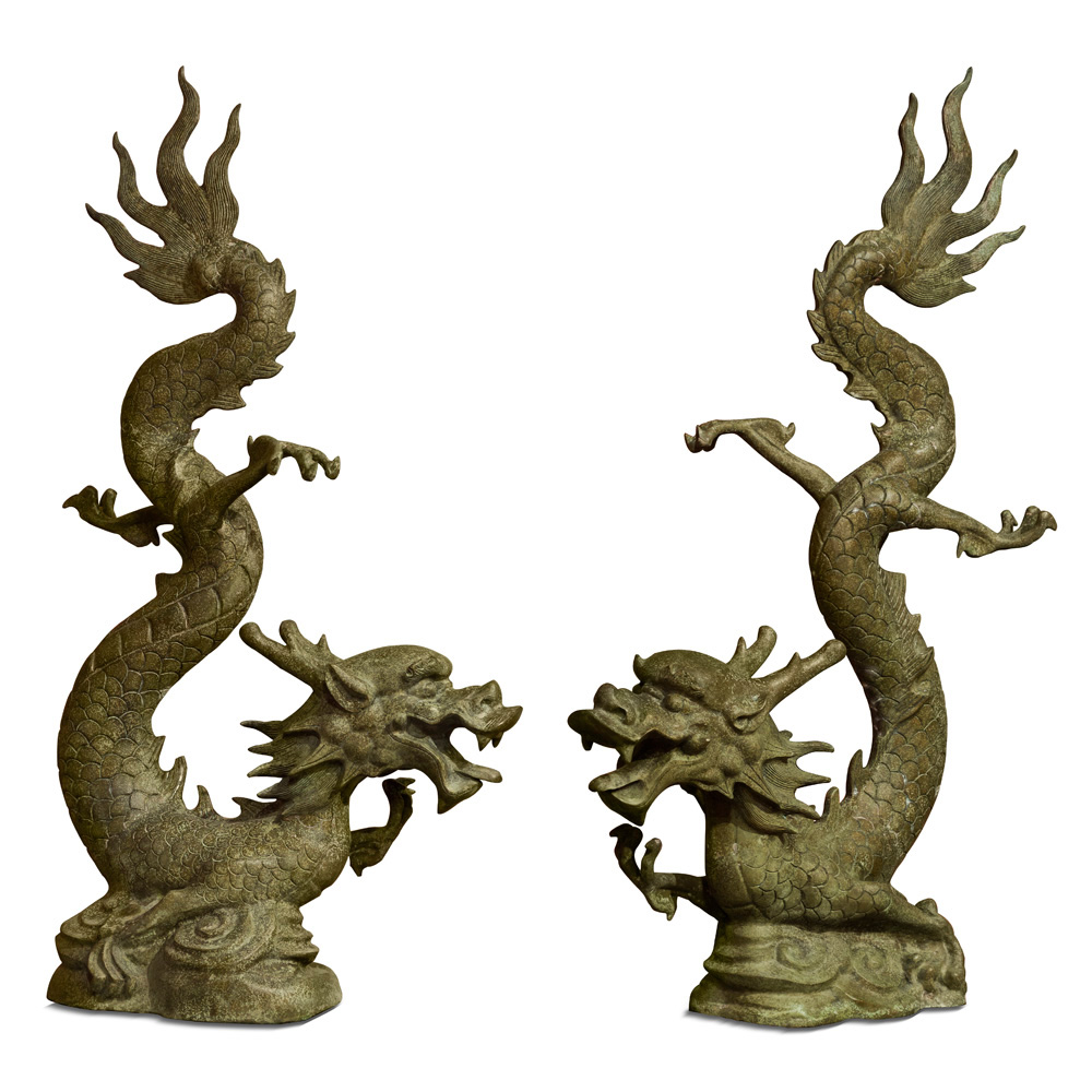 Bronze Flying Prosperity Dragons