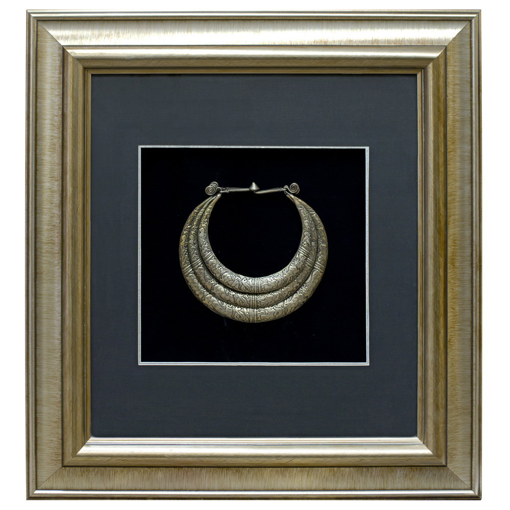 Miao Jewelry 3 Tier Neck Ring Shadow Box