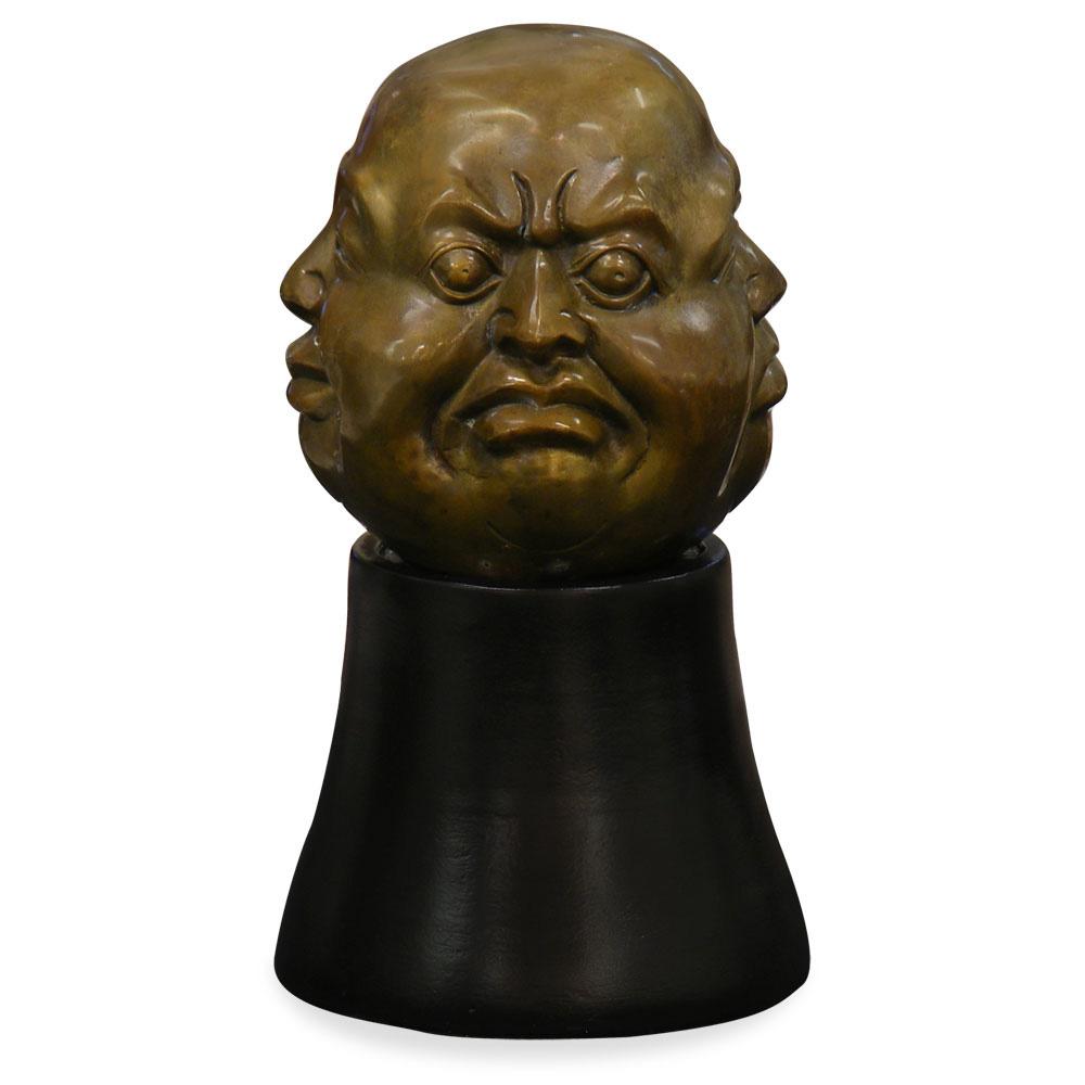 4 Emotions Brass Buddha Asian Figurine