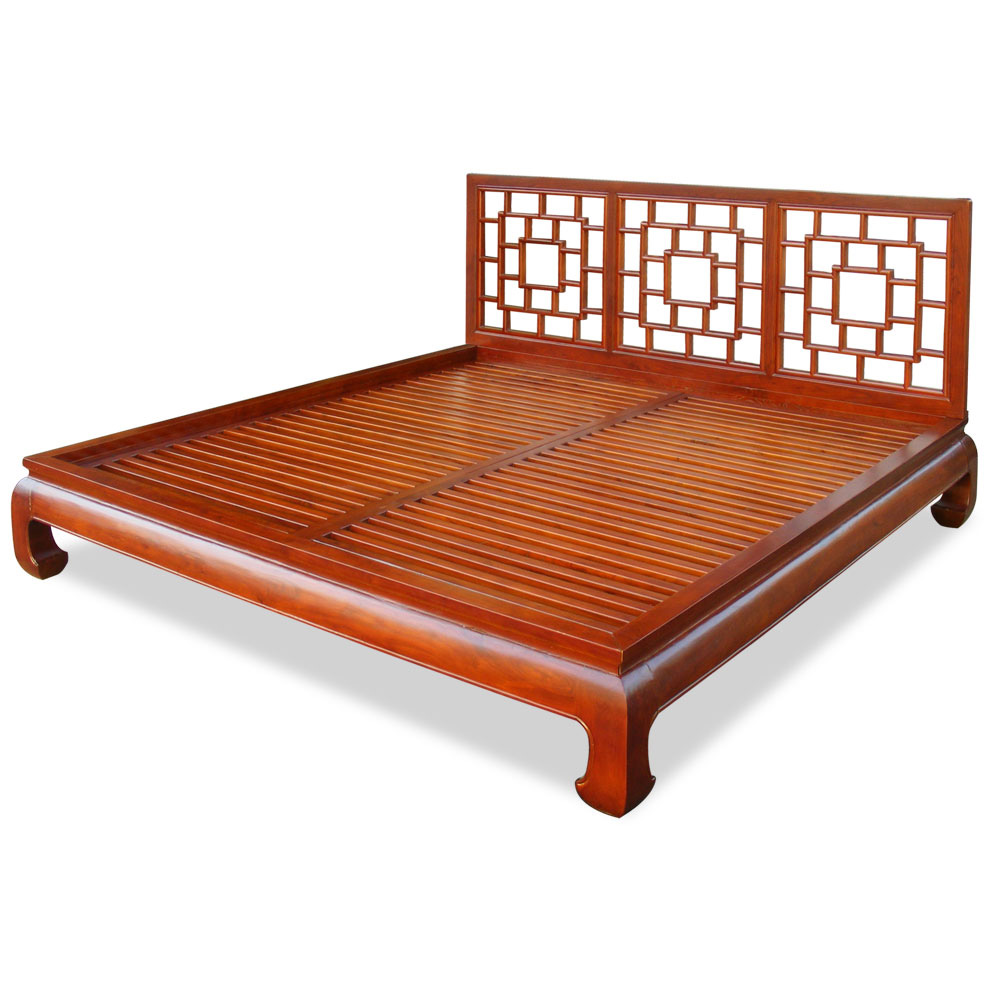 Elmwood ming king size platform bed - Kingsize platform beds ...