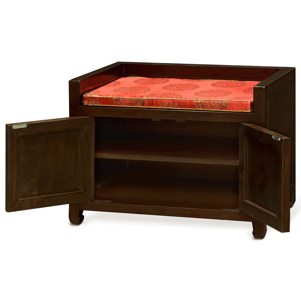 Elmwood Dragon Design Shoe Bench