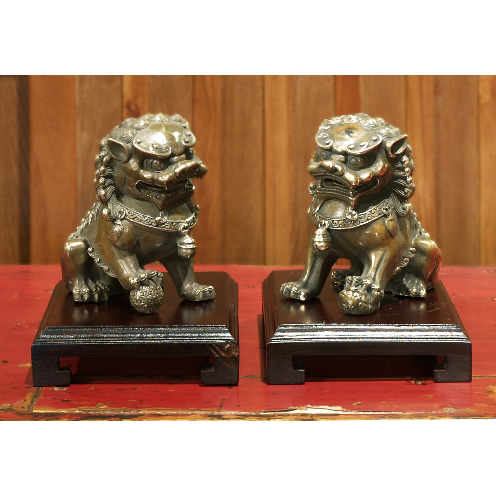 Hand Forged Bronze Foo Dogs