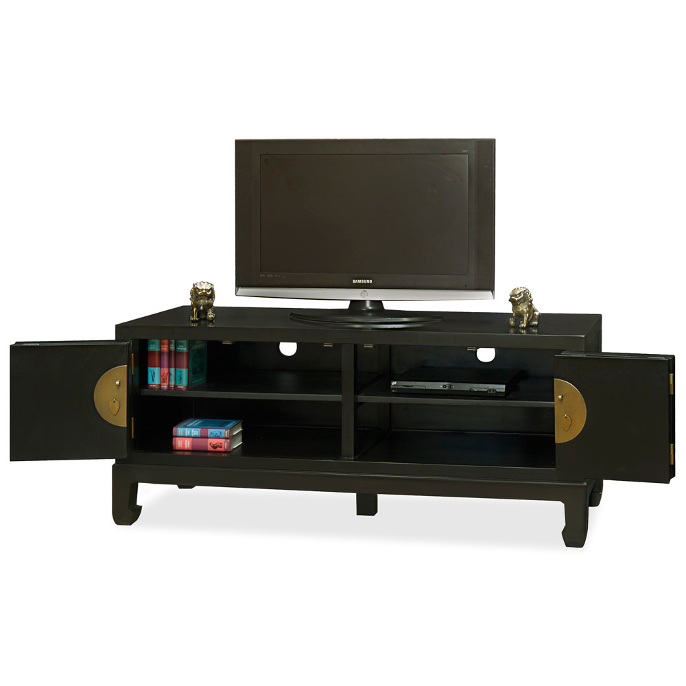 Black Elmwood Kang Media Cabinet