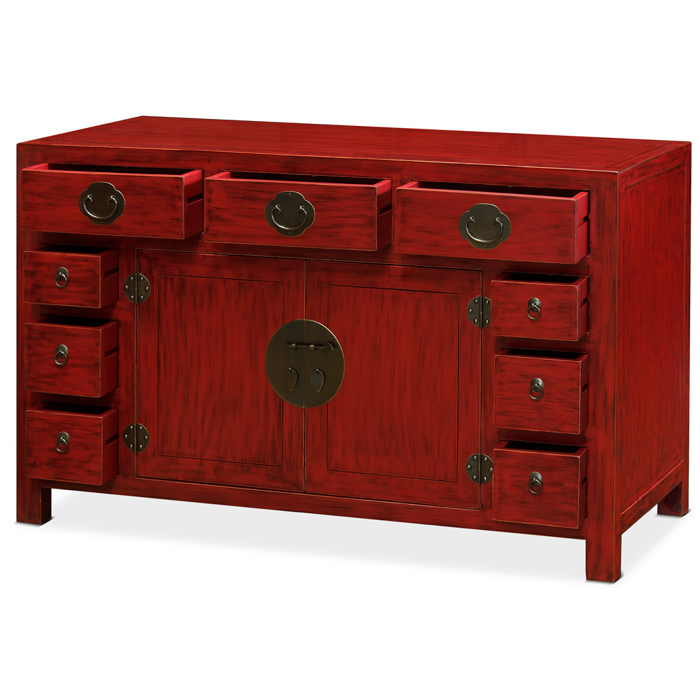 Elmwood Peking Red Sideboard