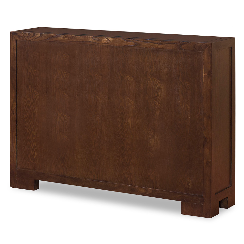 Elmwood Espresso Finish Chinese Ming Cabinet