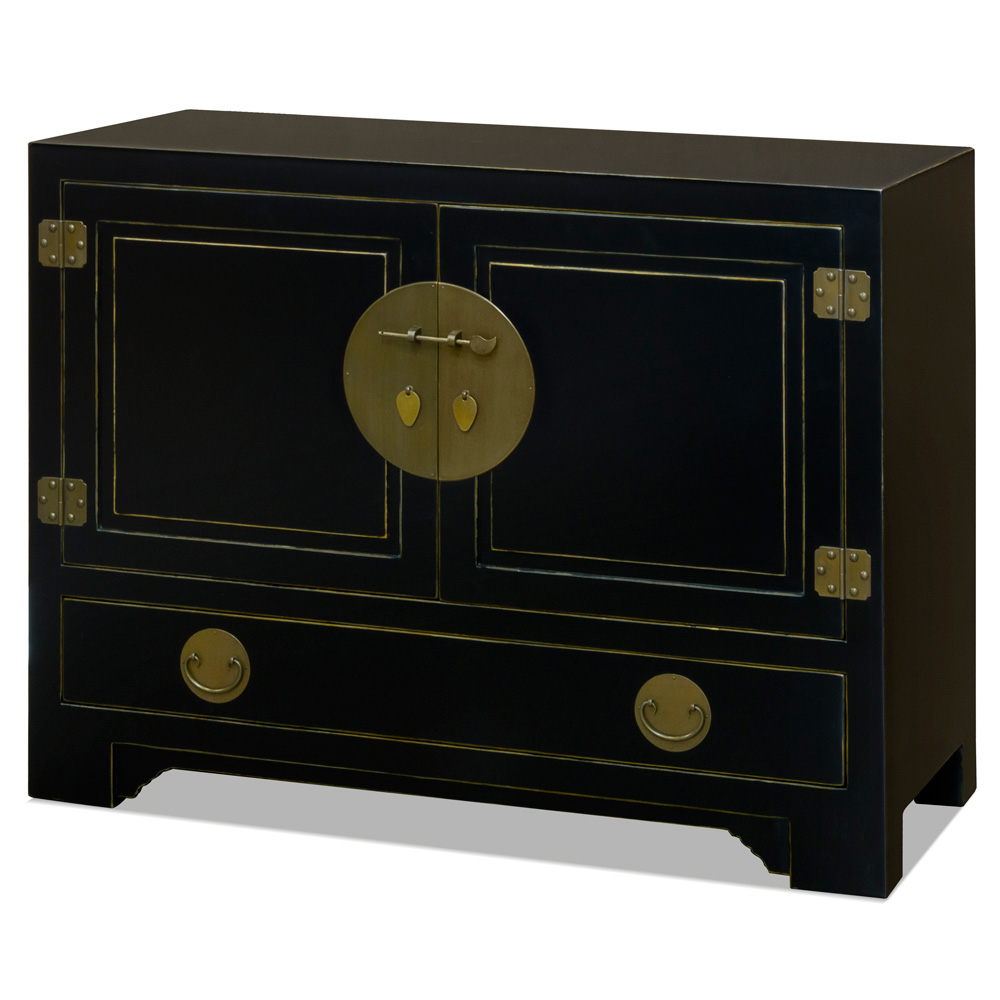 Elmwood Black Ming Cabinet