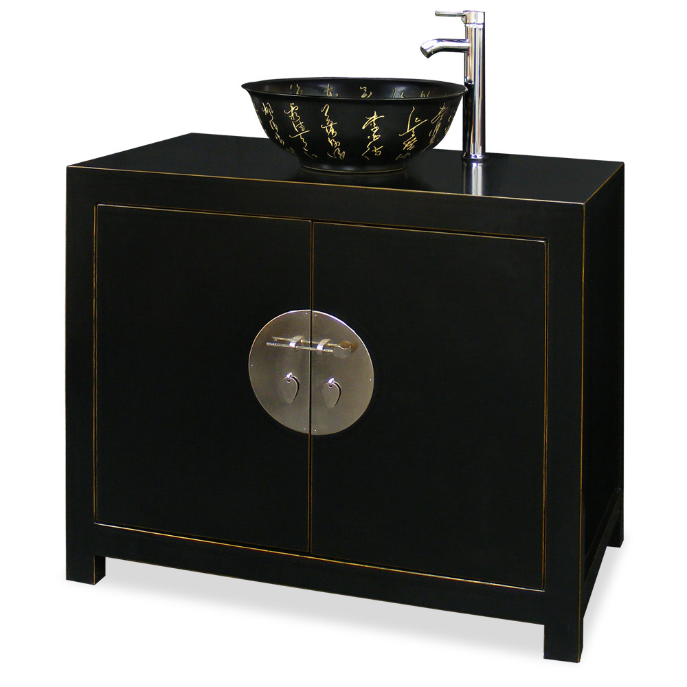 Elmwood ming vanity cabinet for Tansu bathroom vanity