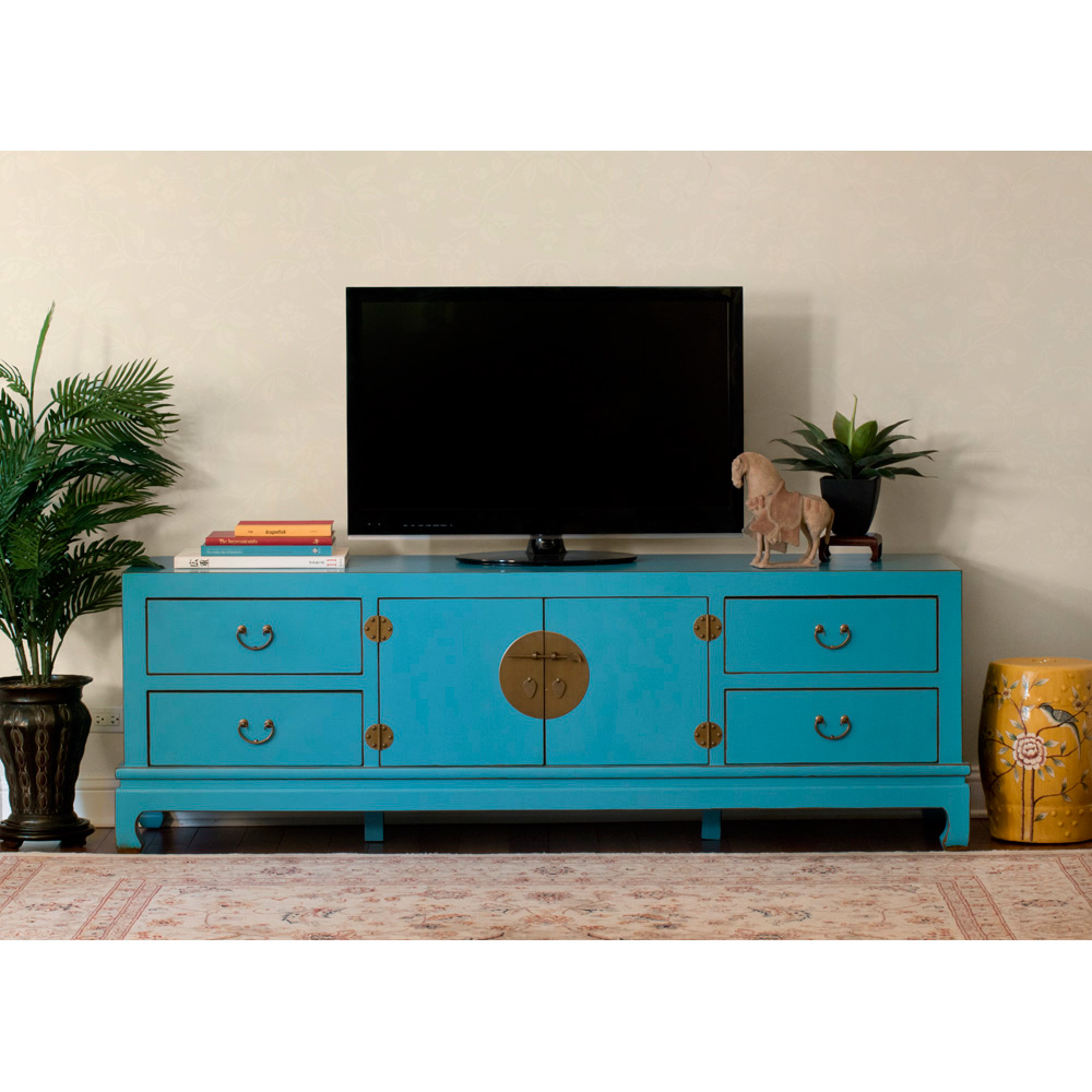 Blue Elmwood Kang Media Cabinet