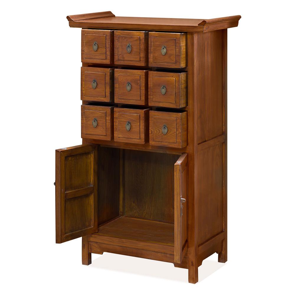 Tea Finish Elmwood Altar Cabinet