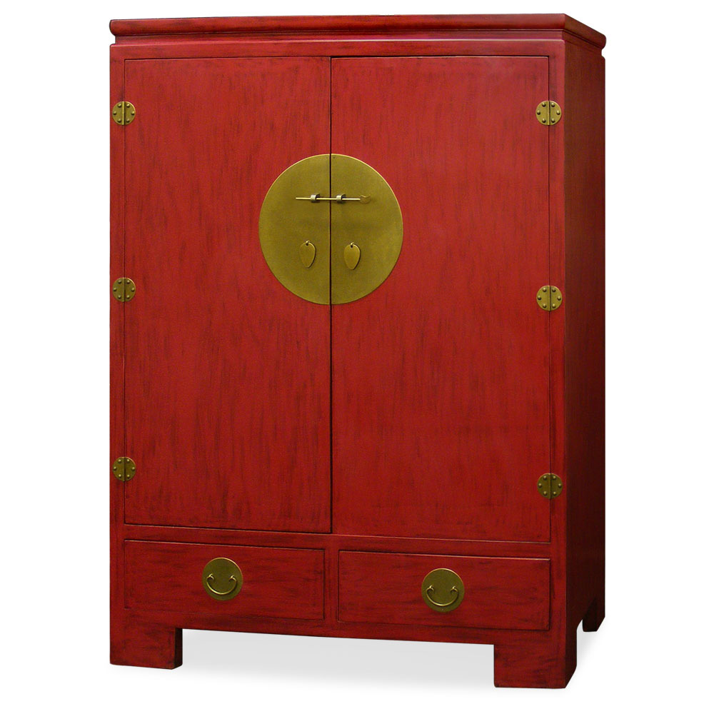 Elmwood ming style tv armoire for Armoire tv