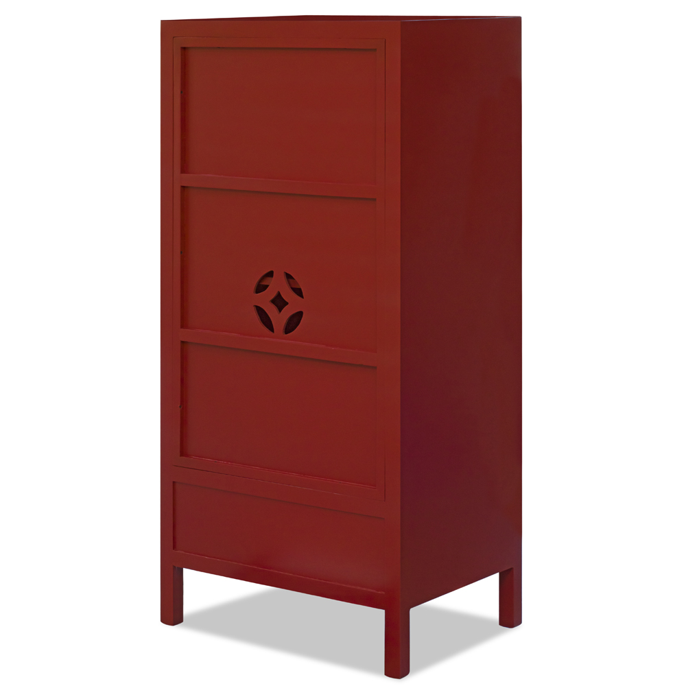 Red Elmwood Ming Petite TV Armoire