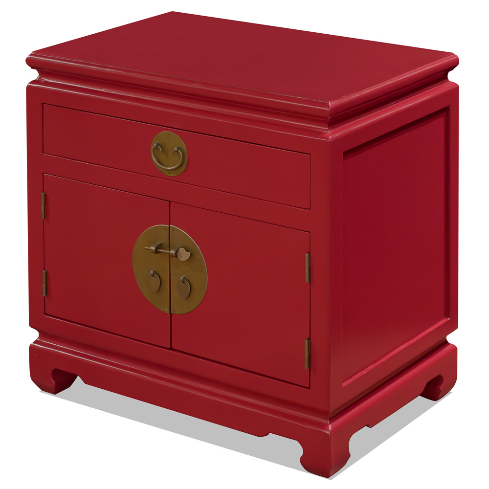 Red Elmwood Chinese Ming Cabinet