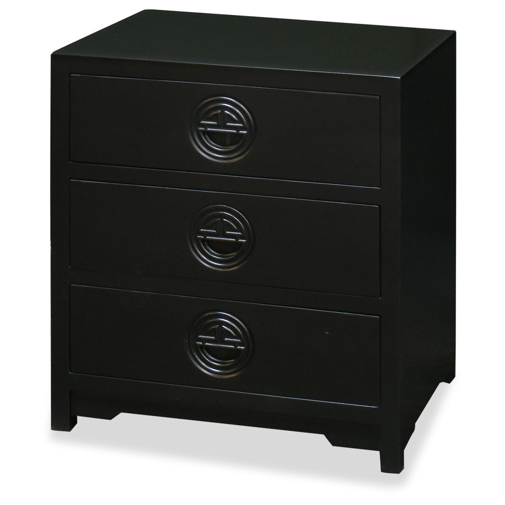 Matte Black Petite Elmwood Longevity Chest of Drawers