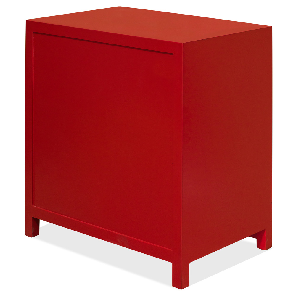 Red Elmwood Ming Vanity Cabinet