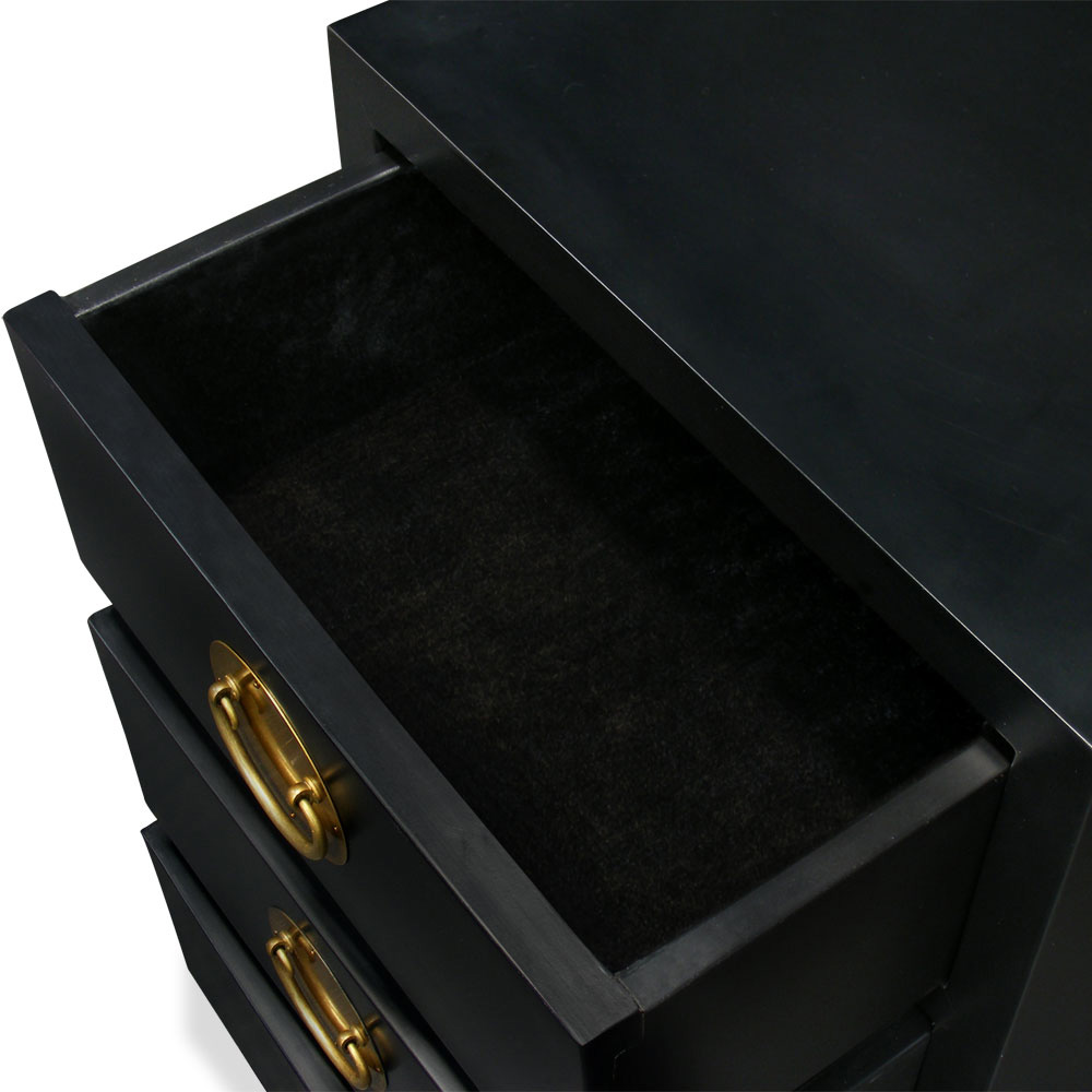 Matte Black Petite Elmwood Ming Chest of Drawers