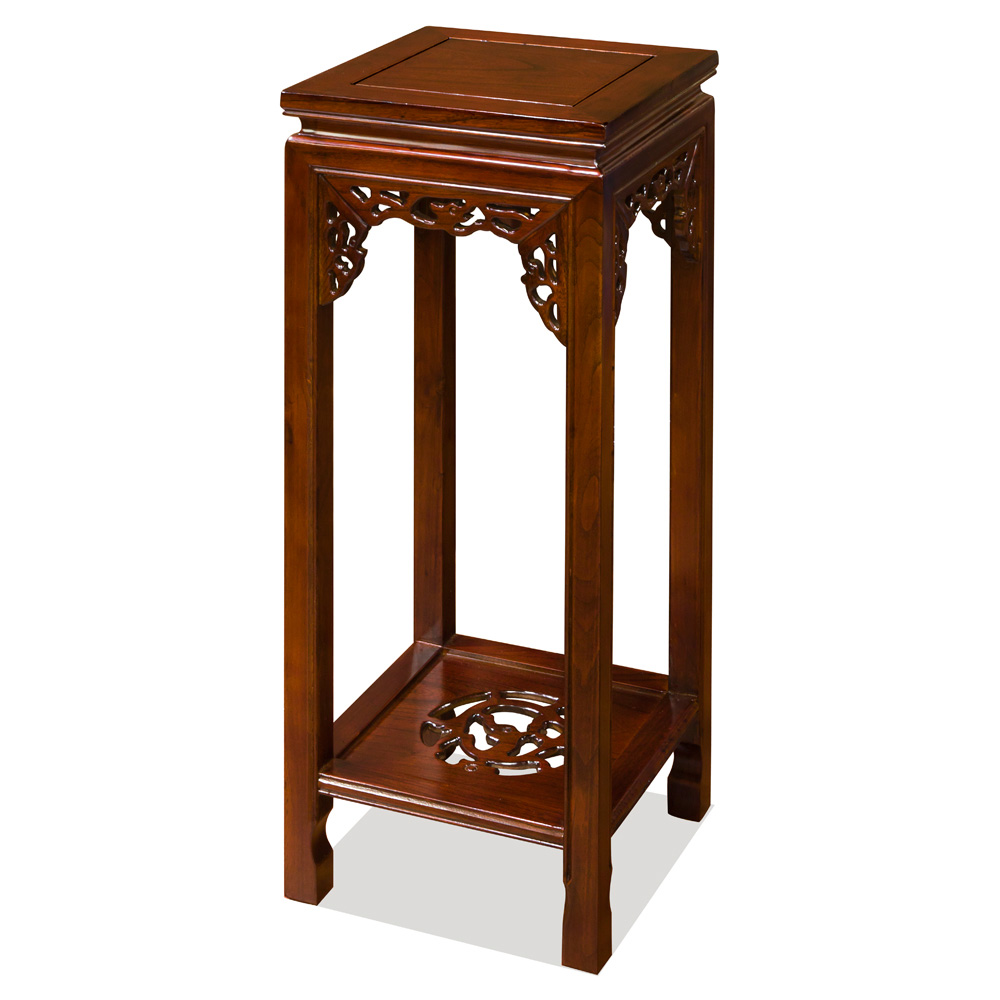 Elmwood Dragon Motif Pedestal