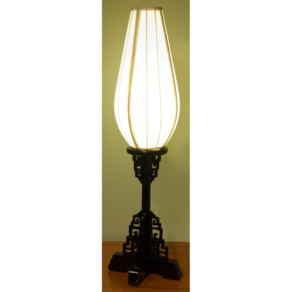 Elmwood Imperial Table Lantern with White Shade