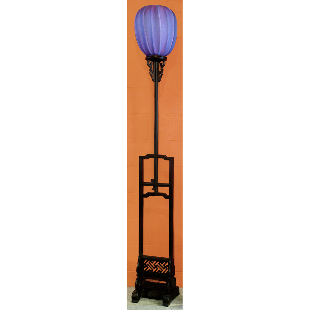 Elmwood Tall Imperial Asian Lantern with Purple Shade