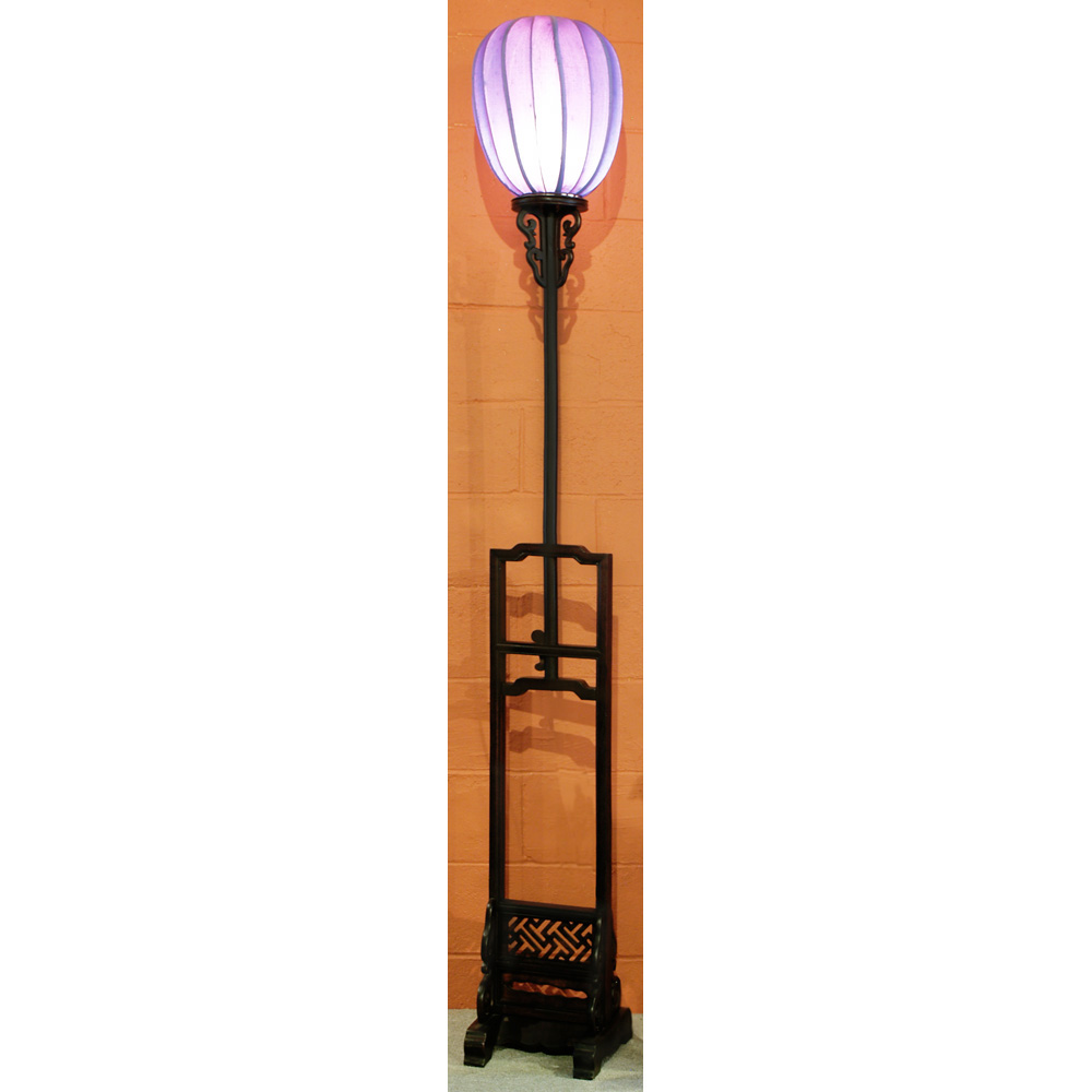 Elmwood Tall Imperial Lantern with Purple Shade