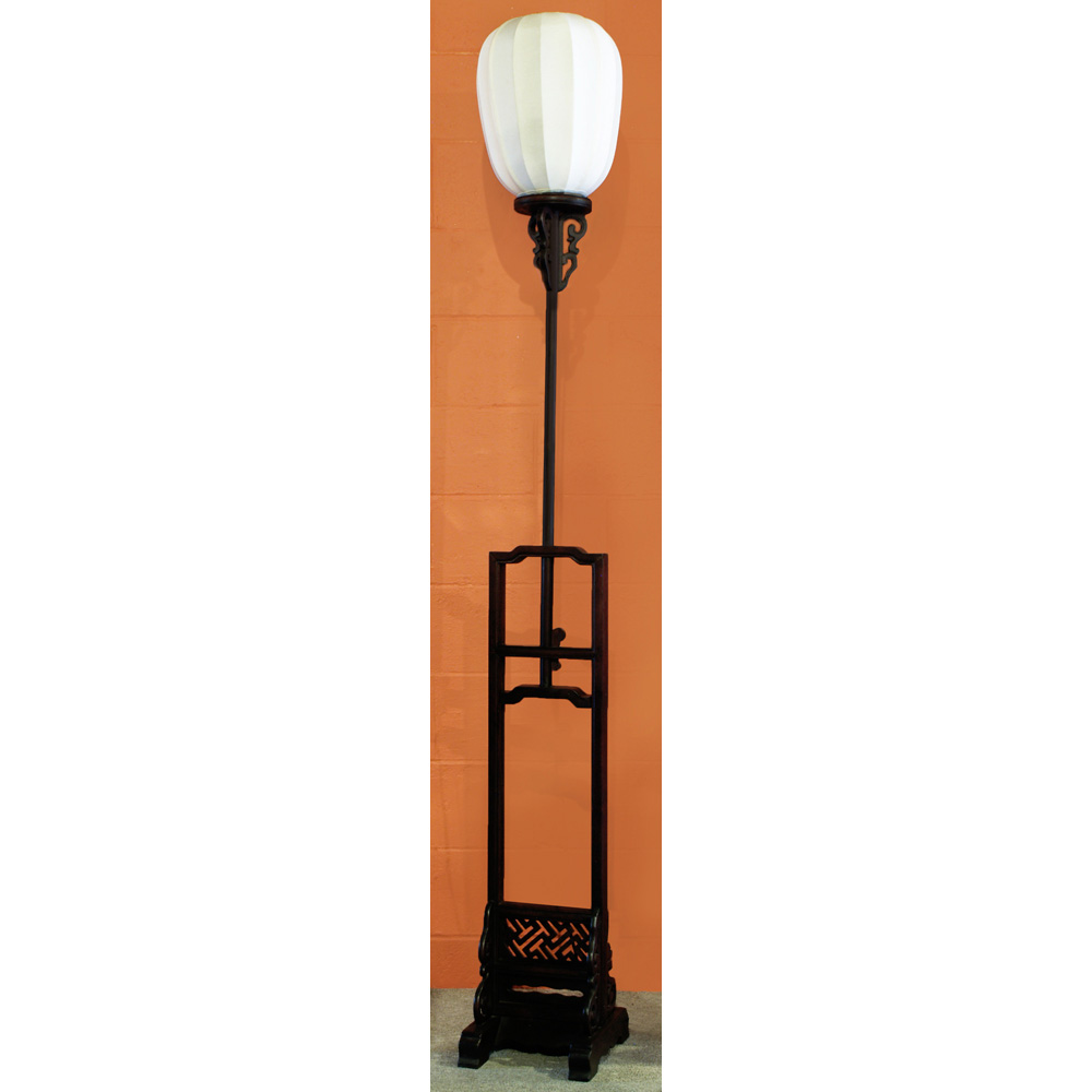 Elmwood Tall Imperial Asian Lantern with White Shade