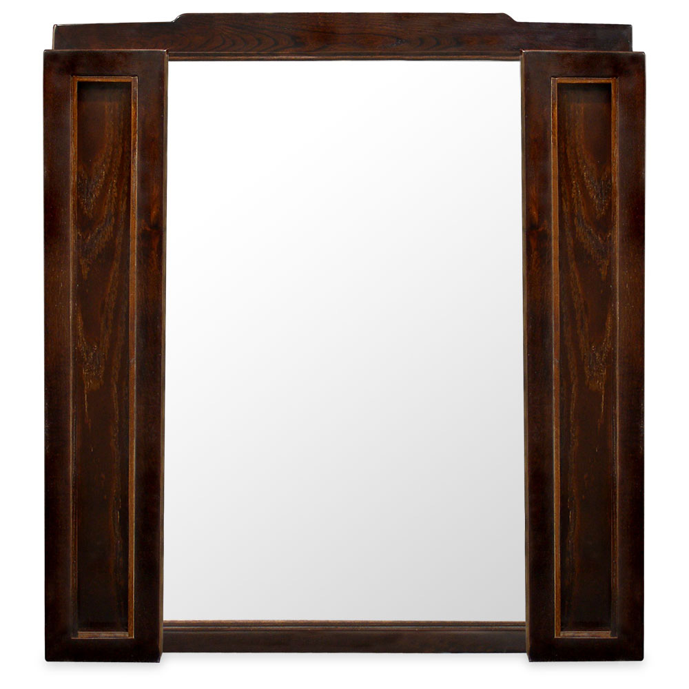 Tea Finish Elmwood Folding Mirror