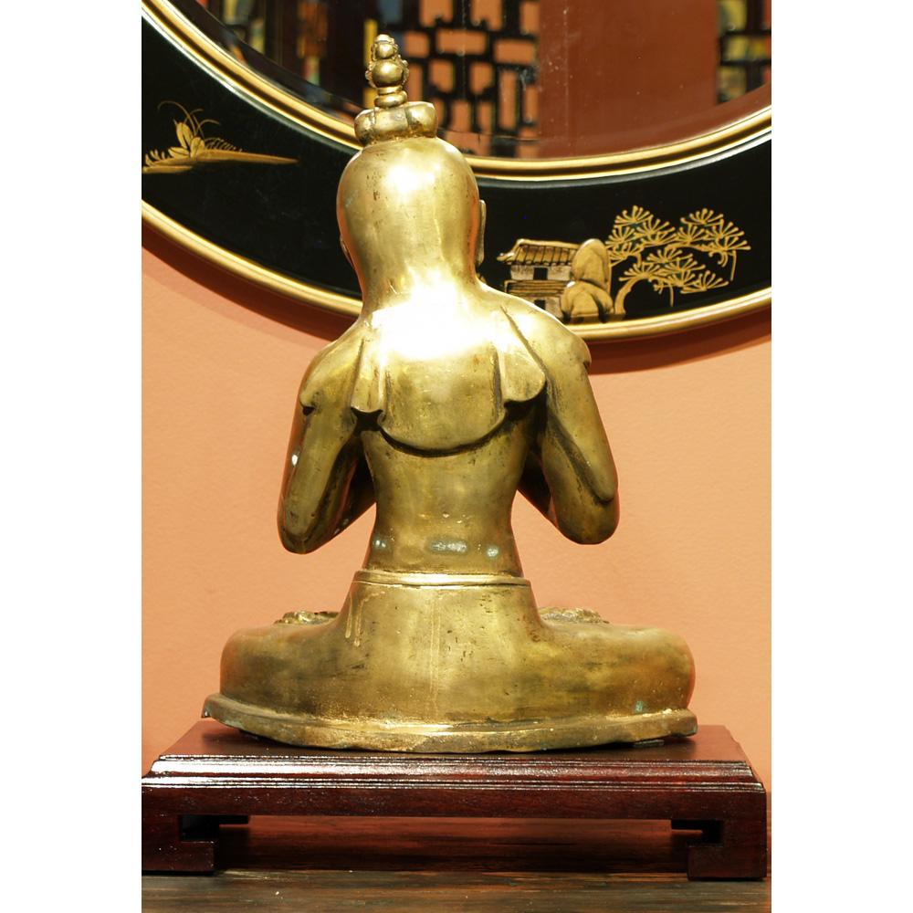 Bronze Sitting Buddha Parody Statue
