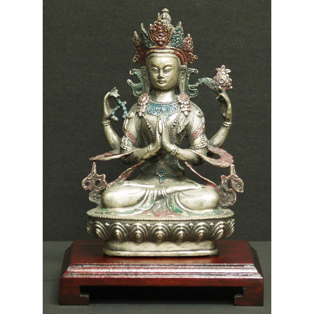 Hand Forged Bronze Meditating Buddha