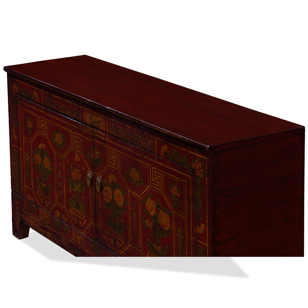 Elmwood Dark Red Dong-Bei Oriental Cabinet