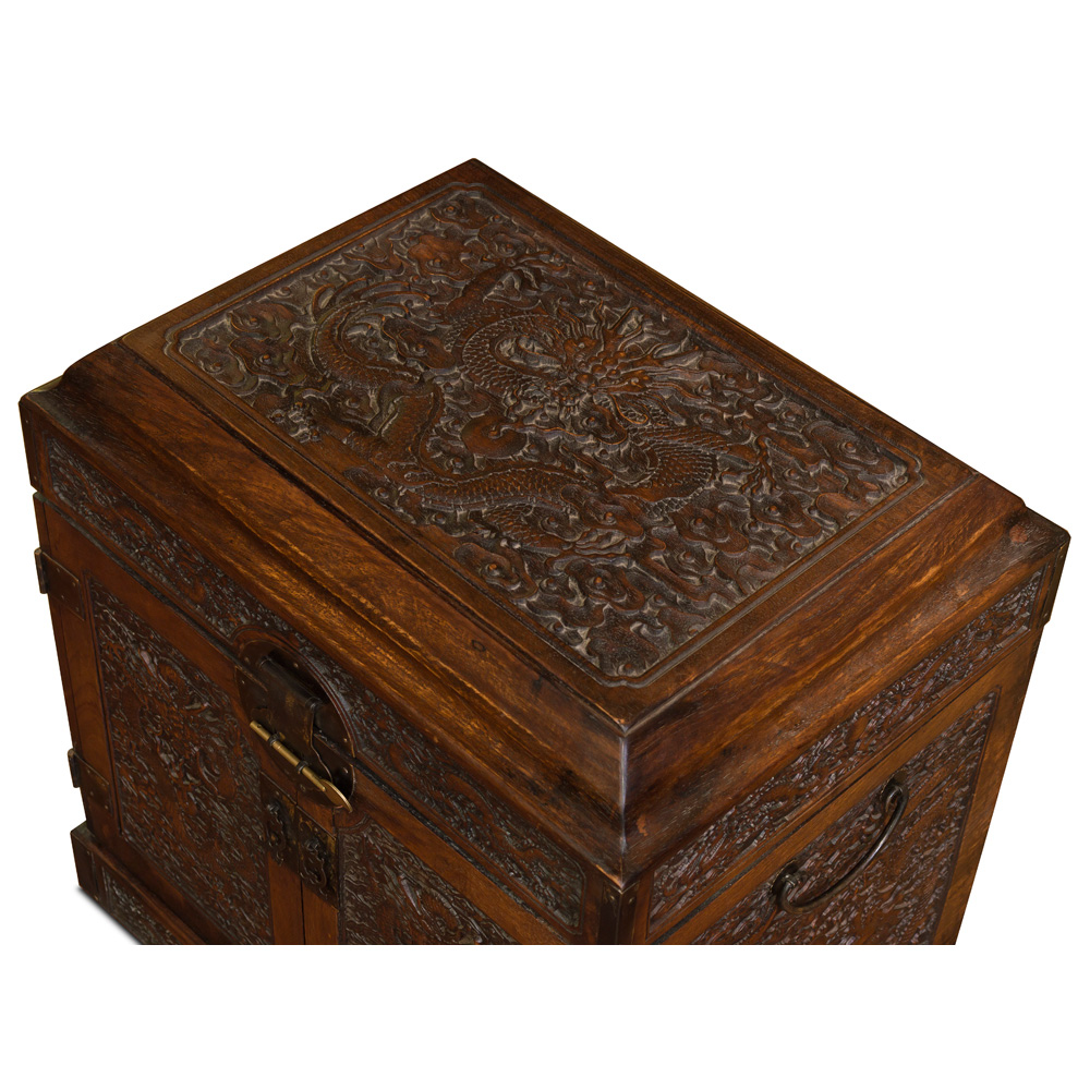 Elmwood Imperial Dragon Motif Dowry Chest