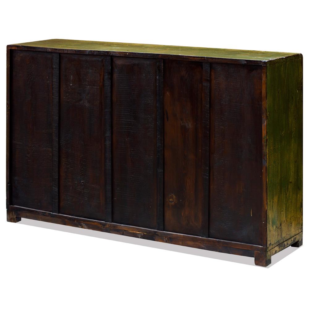 Chartreuse Yellow Elmwood Mandarin Cabinet