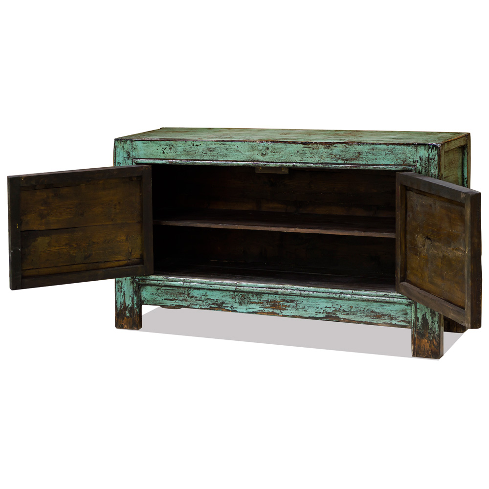 Elmwood Mongolian Double Lotus Cabinet