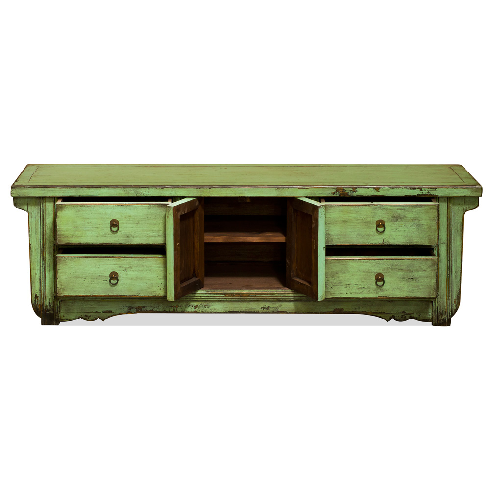 Distressed Mint Green Elmwood Kang Cabinet