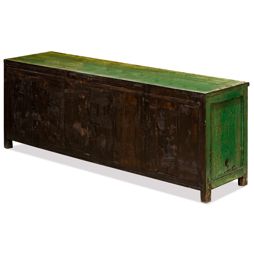 Elmwood Distressed Forest Green Shan Xi Kang Cabinet