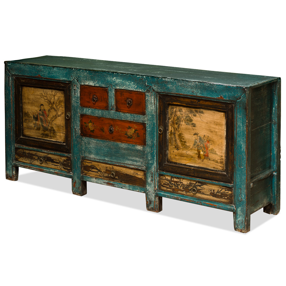 Elmwood Multicolor Mongolian Cabinet