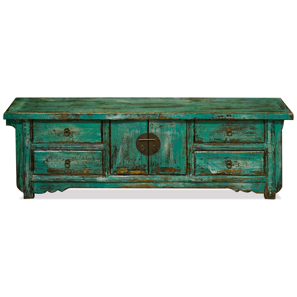 Elmwood Distressed Teal Green Kang Sideboard