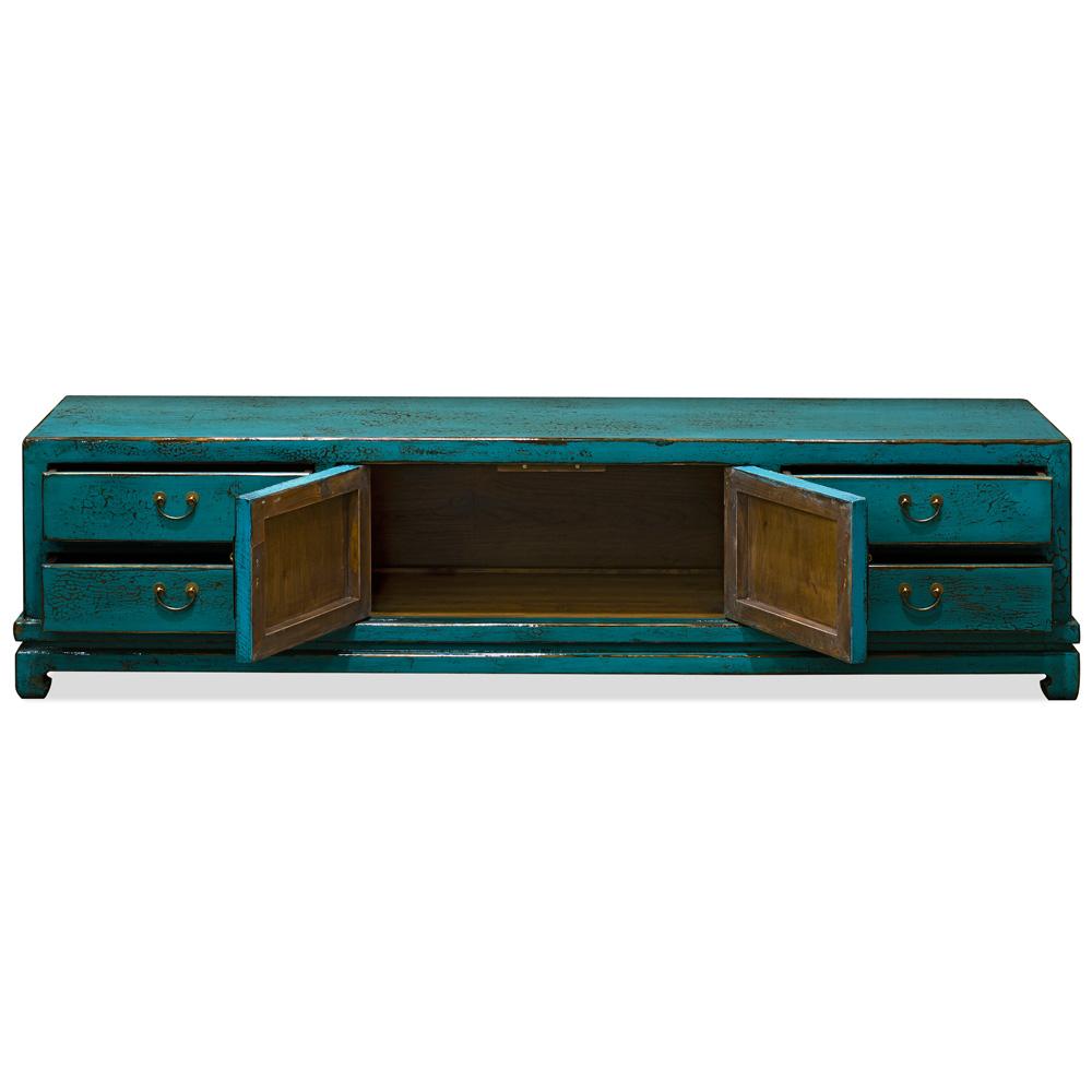 Elmwood Distressed Aqua Blue Kang Sideboard